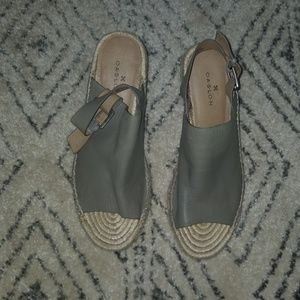 NWT Caslon Gray Wedges